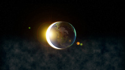 Earth With Reflection stock footage