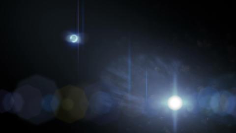 Lens Flares on Black 3 Footage