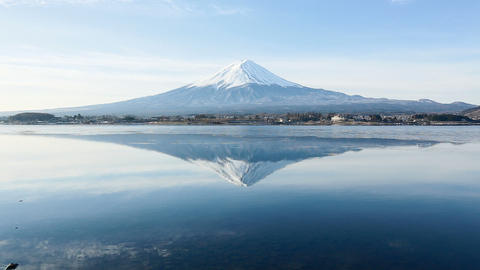 A Inverted Image Of Mt. Fuji stock footage