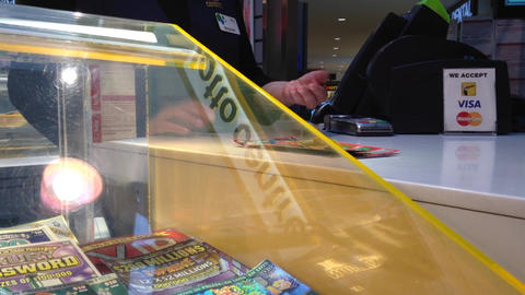 Buying lottery ticket Footage