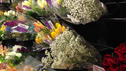 Buying flower Footage
