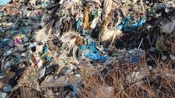 Garbage mountain - garbage dump, landfill 1 Footage