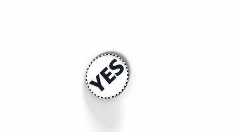 No Yes coin flip Animation