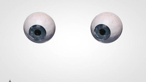 Crazy eyeballs reading Animation