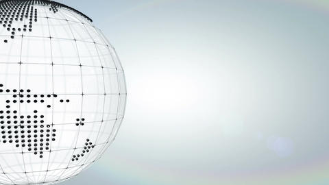 Globe Dots stock footage