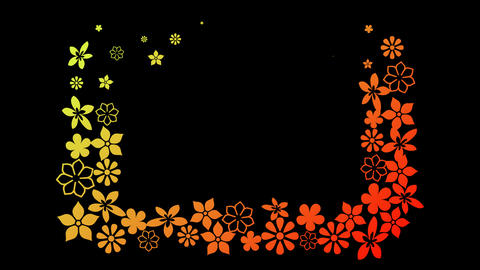 Flower Frame with alpha channel Animation