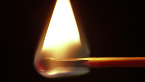 Matchstick Igniting Macro stock footage