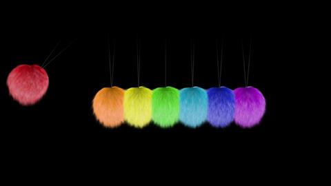 Newtons Hairballs Stock Video Footage