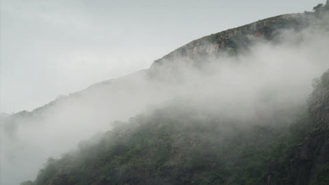 Misty Hillside Timelapse stock footage