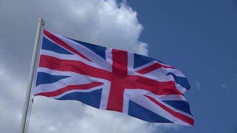 Flag Of United Kingdom. 4K Footage