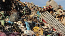 Garbage mountain - garbage dump, landfill 4 Footage