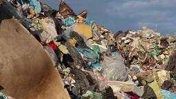 Garbage mountain - garbage dump, landfill 6 Footage