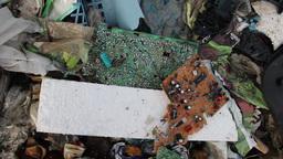 Hazardous, electronic waste at landfill Footage