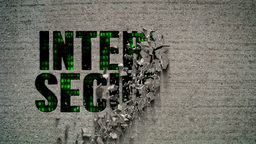 Internet Security Binary Code Crumbling Wall Animation