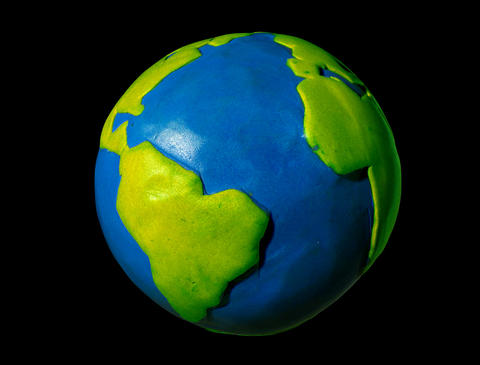 Earth Rotating - Stop Motion Animation stock footage