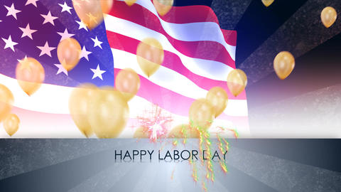 Labor Day Usa stock footage