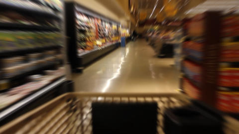 Shopping Time Lapse stock footage