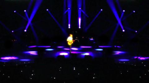 Guitar Soloist on Stage Footage