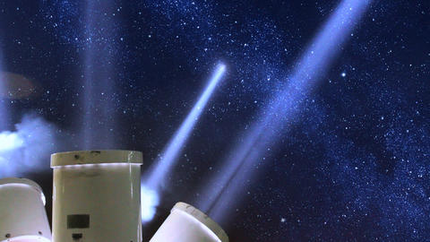 Searchlights Under Stars stock footage