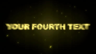 Gold Text After Effects Project