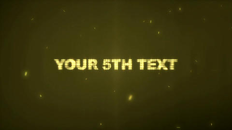 Gold Text After Effects Template