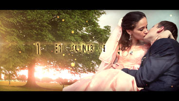 Wedding Trailer stock footage