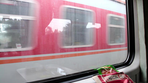 Chinese Train Trip stock footage
