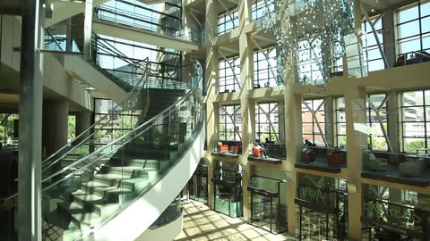 Salt Lake City library elevator up Footage