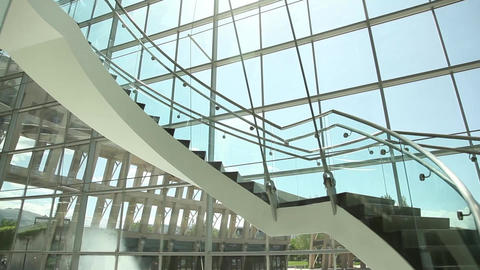 Salt Lake City library stairs inside Footage