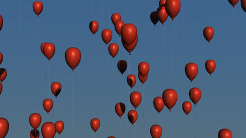 Red Balloons Animation