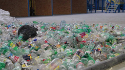 Recycling - plastic bottles at recycling center 1 Live Action