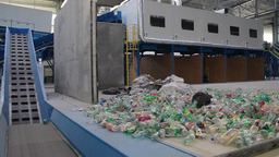 Recycling - plastic bottles at recycling center 3 Live Action