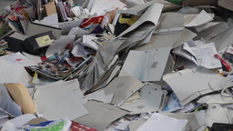 Recycling - waste paper Live Action