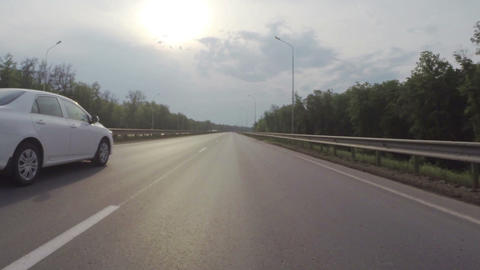 Riding on road - timelapse Footage
