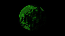 Rotating Digital Earth Globe stock footage