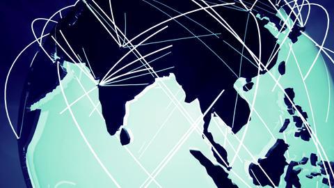 4 K Network Connections Globe v 4 4 Animation