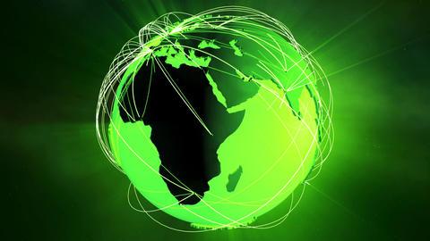 4 K Network Connections Globe v 5 3 Animation