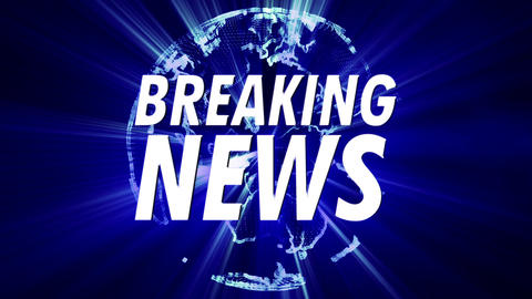 4K Shining Globe Breaking News 3 Animation