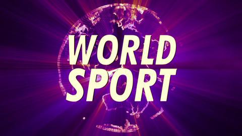 4K Shining Globe World Sport 4 Animation