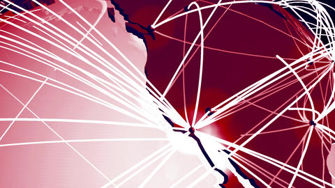 Network Connections Globe v 1 6 Animation