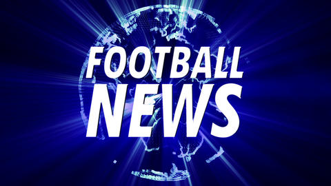 4 K Shining Globe Football News 3 Animation