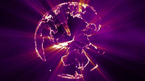4 K Shining Globe v 1 4 Animation