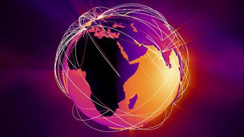 4 K Network Connections Globe v 5 5 Animation