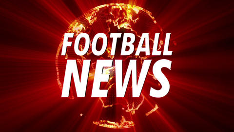 4 K Shining Globe Football News 1 Animation