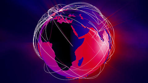 Network Connections Globe v5 6 Animation