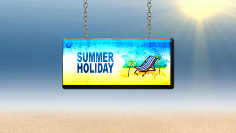 summer holiday sign Animation