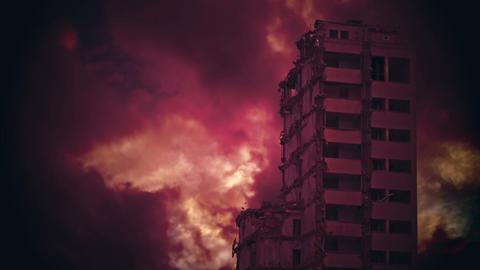 Destroyed skyscraper Animation