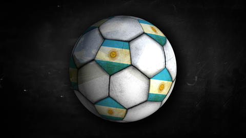 Argentina Ball Rotation Looping Alpha Matte 4k Animation