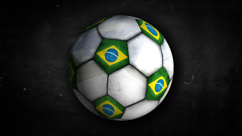 Brazil Ball Rotation Looping Alpha Matte 4k Animation