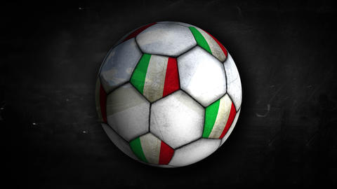 Italy Ball Rotation Looping Alpha Matte 4k Animation